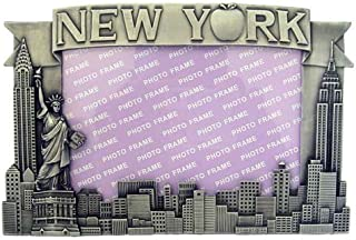 New York Pewter Picture Frame - Apple, New York Picture Frames, Fits 4 X 5 1/2 picture