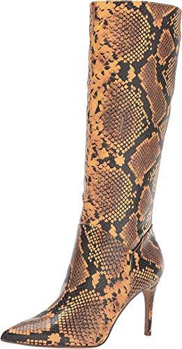 Steve Madden Kinga Knee High Boot Yellow Snake 7.5 M