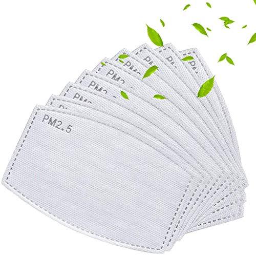 Filtro de carbón activado PM2.5 – 5 capas reemplazables anti niebla a prueba de polvo PM2.5 filtros reemplazables (30 piezas)