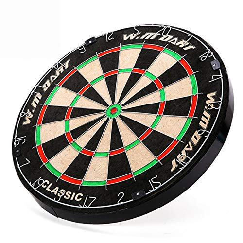 Professional Dart Boards for Adults - Pro Dart Board for Steel Tip Darts - 18-Inch Bristle/Sisal Tournament Dartboard with Staple-Free Ultra-Thin Wire Spider - Indoor or Outdoor Dartboards,Black