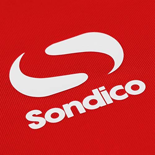 Sondico Mens Base Mock Neck Baselayer Top Compression Armor Thermal Skins Long Red XL