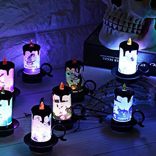 ZHAOZX Halloween-Dekorative Requisiten LED Elektronische Kerze Licht Tischdeko mit Knopfbatterie Weihnachtsbeleuchtung