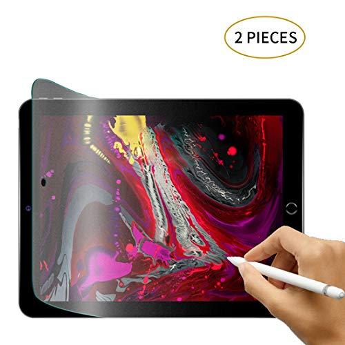 (2 Stück) iPad Matte Displayschutzfolie, Schutzfolie für Papiergefühl für iPad, Matt Blendschutz kein Kratzer Zeichnung Skizzierung Schreiben Papier Textur Displayschutzfolie für 2019 iPad 7 10.2 Zoll