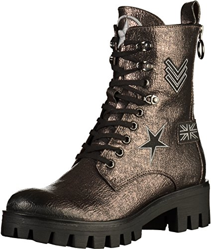 Tamaris Rbulu 25755 Military-Stiefelette Bronze mit Patches