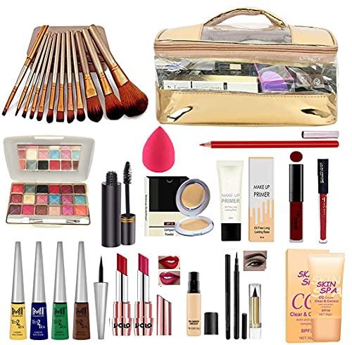 volo All In One Makeup Kit(2 Lipstick,4 Eyeliners, Eye Shadow, Cream, Sindoor, 1 Liquid Lipstick, Concealer, Mascara, Pen...