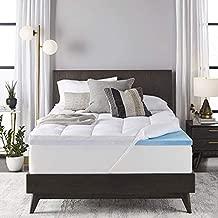 Sleep Innovations 4-inch Dual Layer Gel Memory Foam Mattress Topper, King, Enhanced Support