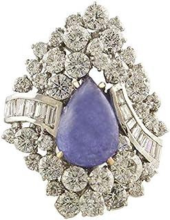 Anello Oro Bianco, Tanzanite e Diamanti