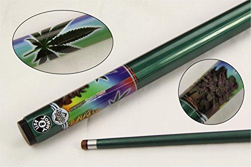 Jonny 8 Ball 57Inch Pot da Hierba Verde Cannabis 2pieza Grafito Piscina Snooker Cue
