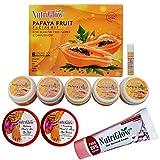 NutriGlow Papaya Facial Kit, Hand and foot Spa Kit with Hair removal Cream