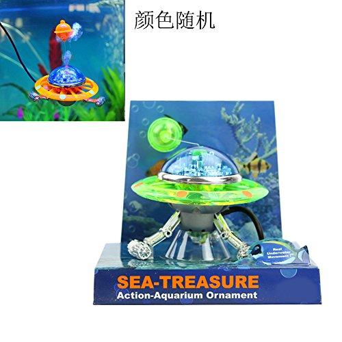 LANDUM Decor UFO Aquarium Action-Air Effekt Dekoration Unterwasser Fische Tank Ornament Farbe zufällige