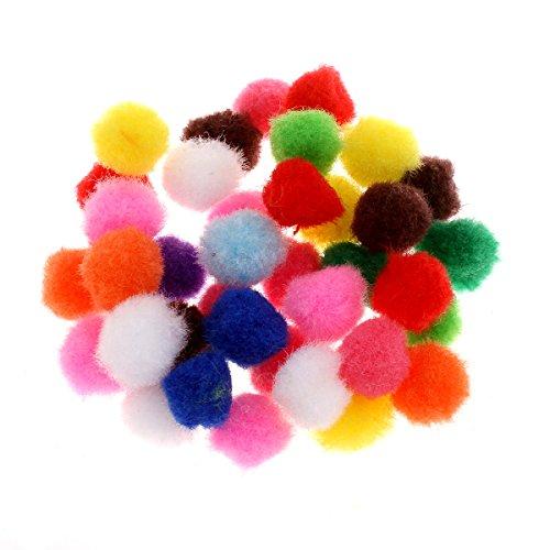 Perlin - Pompons Pompon 30/25/20/15/12/10 mm Mix Farben Bommel Nähen Bunt Tilda Basteln Borte bälle Flauschigen Plüsch Bälle für Lustige DIY Kreative Handwerk (12mm 200Stk)