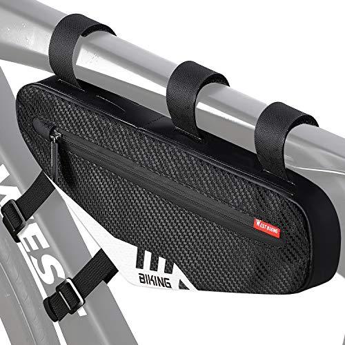 WESTLIGHT Fahrradtasche Rahmen wasserdicht Fahrradrahmentasche, Triangle Fahrradaufbewahrung Rahmentasche, Fahrrad Werkzeugtasche, Satteltasche für Mountainbikes,Rennräder(Kapazität von 2 hat)