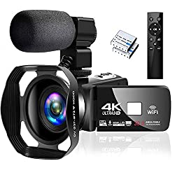 commercial 4K camcorder for recording WiFi camcorder with full HD microphone Digital camcorder camcorder … full spectrum camcorder