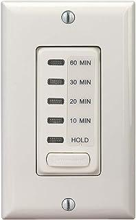 Intermatic EI210LA 10/20/30/60 Electronic in-Wall Countdown 1800-Watt Timer, Light Almond