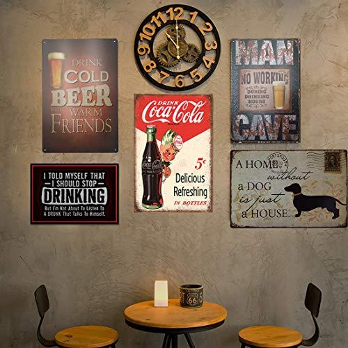 Vintage Style Drink Coca Cola Delicious Refreshing in Bottles Retro Vintage Bar Signs