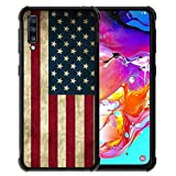 for Samsung Galaxy A70 Case Us Grunge Flag Pattern,