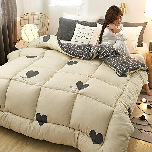 CHOU DAN Anti Allergy Duvet Double 3d Goose Down Duvet Quilted Quilt King Queen Full Size Comforter Winter Thick Blanket-violet_180CM 220CM 2.5KG