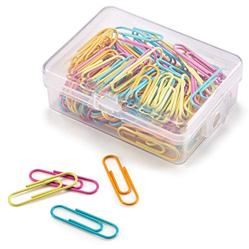 Paper Clips 28mm Assorted Color Paperclips for Office Premium Clips for Paperwork Paper Clips Small Durable Rustproof Paper Holder Letter Holder Great for Office School Document Organizing[120 PCS]