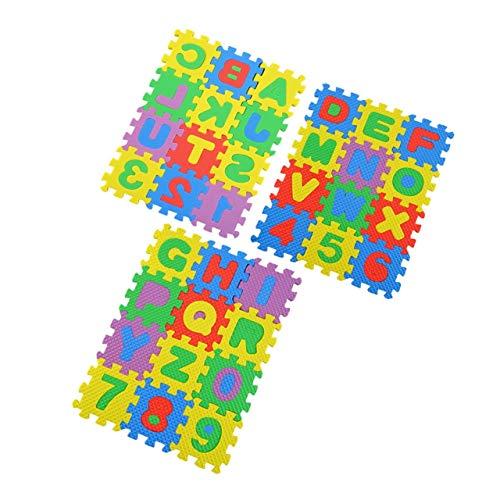 36 piezas de rompecabezas colorido para niños, juguetes educativos, alfabeto, letras AZ, numeral, espuma, juego, estera, autoensamblado, bebé, gatear, almohadilla (multicolor) ESjasnyfall