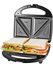 OSTBA Sandwich Maker, Tosti-Ijzer, Anti-Aanbak Afneembare Platen, Cool Touch Handgrepen, BPA-Vrij, Zwart.