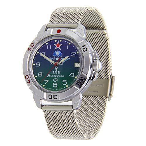 Vostok Komandirskie #431818 Reloj de pulsera de malla militar ruso