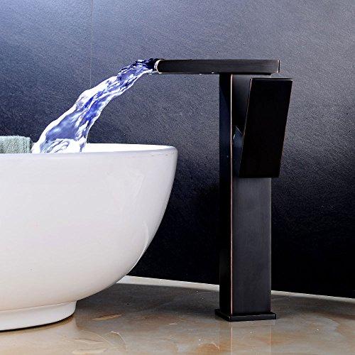 Aumentar la prueba de salpicaduras en el hogar Negro y Oro,Grifo de Cocina de Acero Inoxidable Classic Grifo de Cocina Grifo Monomando Giratorio de Cromo de 360° para Fregadero