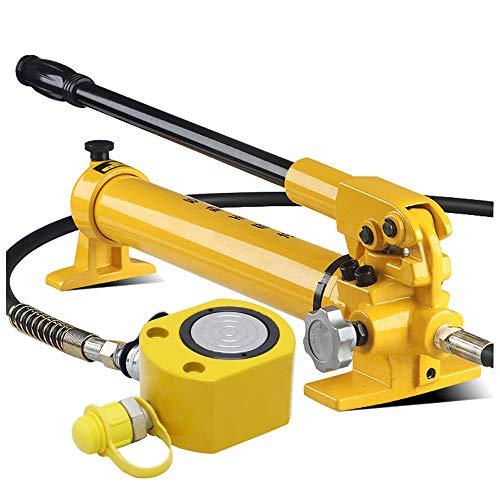 NEWTRY Hydraulischer Wagenheber 14mm Super dünner Hydraulikzylinder Tragbarer Stempelwagenheber Mini Wagenheber Mit Hydraulikpumpe (30T + CP-700 Pumpe)
