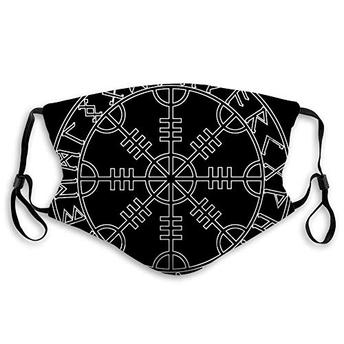 Fillter Face Cloth For mens and womens, God Wotan and Two Ravens of Norse Mythology,Cold Mouth Dustproof Double Protection