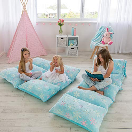 COLUX 3 in 1 Premium Glow in The Dark Floor Pillow Cover for Kids. Cover ONLY. Pillow Chair Lounger...