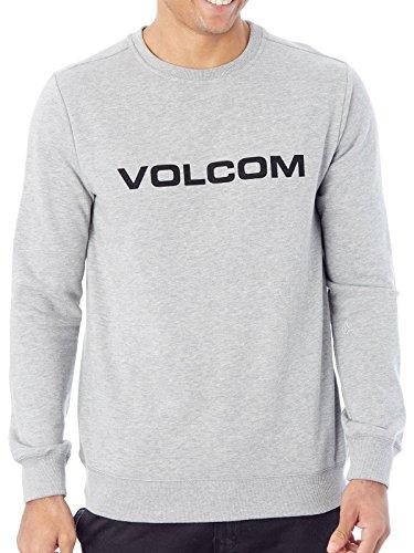 Volcom Imprint Crew Sudadera, Hombre, Gris, L