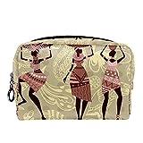 Bolsa cosmética compacta Bolsa de Maquillaje Monedero, Mujeres de la Tribu Africana