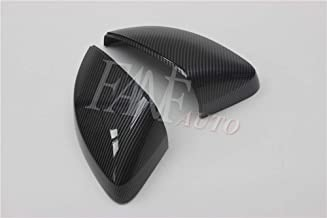 FANFAUTO Replacement Carbon Fiber Style Black Rear Side Mirror Cover For Audi A3 S3 RS3 8V 2013-2019