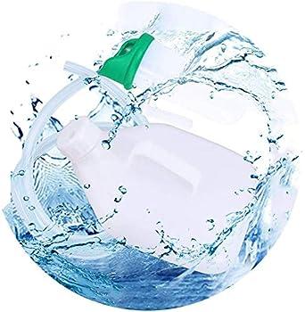Hommes Bouteille d'urine Portable Allonger hôpital Catheter Soins Camping Conduite Pratique poignée Souple Urine Entonnoir Haute capacité 1500 ML PP Matériau