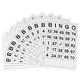 TOYANDONA Juego de 60 papeles de Bingo para divertirse, juguete para el desarrollo intelectual
