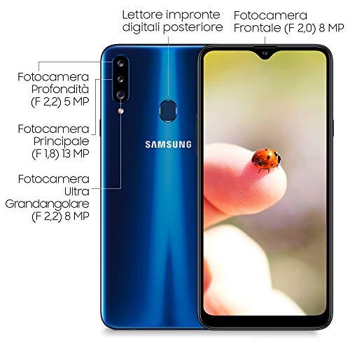 Samsung Galaxy A20S, bleu, 6,5'', CAM (13+8+5)/8 Mpx, OC 1,8GHz, 32Go, 3Go de RAM - Android - 4G - Dual SIM