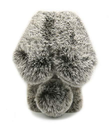 Samsung Galaxy A71 5G Furry Bunny Case Brown, Women Fashion 3D Faux Fur Fluffy Rabbit Ear Case for Samsung Galaxy A71 5G Girls