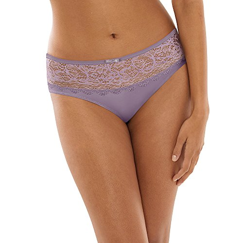 Bali Women's Lace Desire Microfiber Hipster, Purple Shade, 8