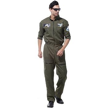 MagiDeal Traje De Disfraz del Traje del Ejército 80s del Aviador ...