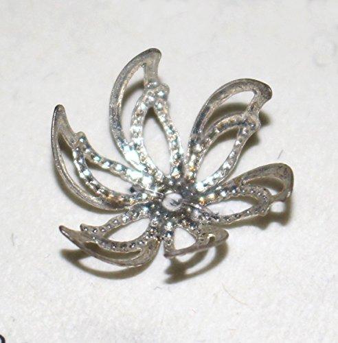 10 Stück Perlkappen 16mm in 5 Farben • Kappen für Perlen (silberfarbig)