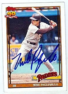Autograph 119749 San Diego Padres 1991 Topps No. 547 Mike Pagliarulo Autographed Baseball Card