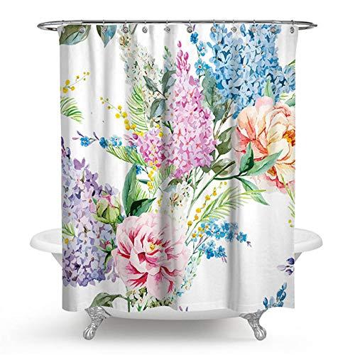 Bumpy Road Blumenmalerei gedruckt Mehltau Proof Polyester Duschvorhänge Waschbare wasserdichte Duschvorhänge für Badezimmer Home Decor