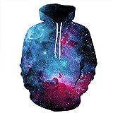 Grace's Secret 3D Printed Galaxy Cool Hoodies for Men, Teen Girls Boys, Long Sleeve Pullover Sweatshirt (S/M/L/XL/XXL/XXXL)