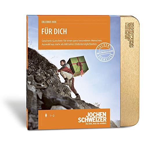 Jochen Schweizer Erlebnis-Box Für Dich, über 680 Erlebnisse für 1-2 Personen, Geschenke für Frauen, Männer Geschenke, Geschenke für Freundin, kleine Geschenke, Danke