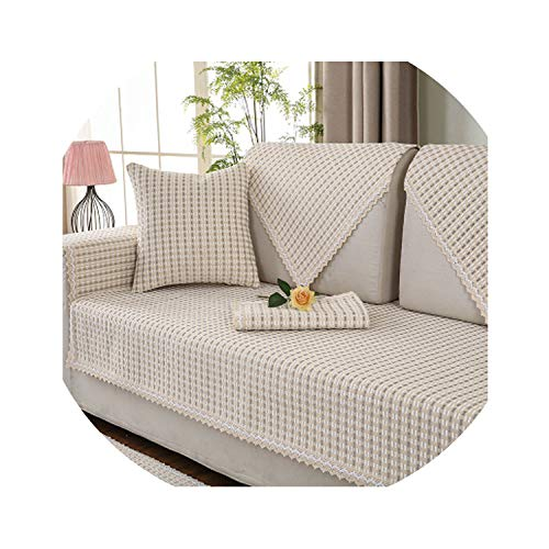 2018 New Polyester Sofa Covers Decorative Sofa Towels for sectional Sofa Anti-Slip Couch slipcovers Armchair Furniture Protector,2,110x180cm
