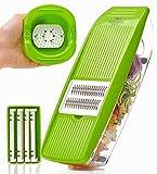 Mandoline Slicer - Premium Vegetable Potato Slicer Grater - Cutter for Tomato, Onion, Cucumber,...
