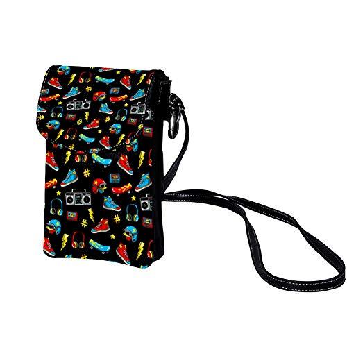 Haminaya Kleine Crossbody Tasche Handy Schuhe Helm Lautsprecher Mini Umhängetasche Leder Tasche Brieftasche mit Credit Card Slots für Frauen 19x12x2cm