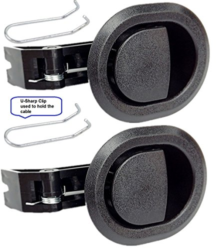 2X Recliner Replacement Parts @ Small Oval Black Plastic Pull Recliner Handle, Flapper Style, Handle Comes with Cable Hook, Packaged with Our own Designed Bag @ Eric & Leon Logo (2)