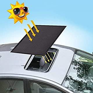 ACUMSTE Car Sunroof Sun Shade Net,Car roof Mesh 10 Seconds Quick Install, UV Sun Protection Cover When Parking on Trips- Blackby Kids Breastfeeding When Parking on Trips- Black