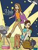 Moda libro para colorear para chicas 1 (Spanish Edition)