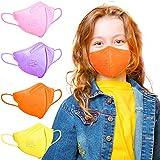 FFP2 Masken | Masken Mundschutz | FFP2 Maske CE Zertifiziert | FFP2 Maske Bunt | FFP2 Maske Farbig, Bunte FFP2 Masken Rosa Lila Orange Gelb | Gesichtsmaske Mund Nasen Schutzmaske Kleine Größe 12 Stück